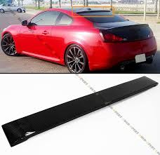 nissan altima coupe rear spoiler fits for infiniti g37 2 dr coupe real carbon fiber rear roof