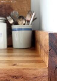 Wood Kitchen Countertops by Thrifty Divas Diy Wide Plank Butcher Block Countertops House