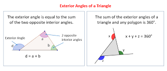 Definition Of Interior Angles Exterior Angles Of A Triangle Solutions Examples Videos