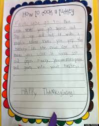 kid note of the day how to cook a turkey huffpost
