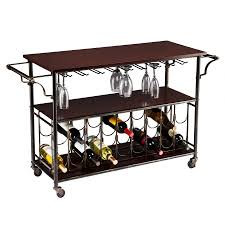 amazon com southern enterprises rolden wine bar cart black and