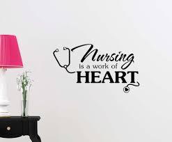 amazon com wall vinyl decal nursing is a work cute