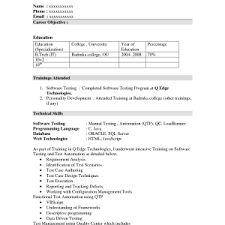 fresher sample resume objectives format for computer science