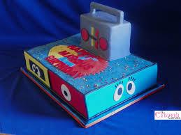 yo gabba gabba sheet cake cake vanilla vanilla