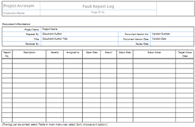fault report template word fault report template word 4 professional and high quality