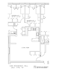 University Floor Plans 1300 Residence Hall University Housing And Residential Life