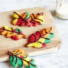 fall color swirl cookies