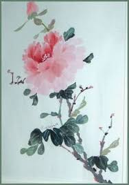 Japanese Flowers Paintings - chinese flower paintings red peony watercolor pinterest