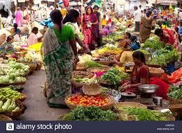 fruit and vegetable market udaipur rajasthan india stock photo