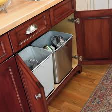 Kitchen Cabinet Garbage Drawer Under Counter Trash Can By Polder In Cabinet Trash Cans