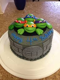 Home Made Cake Decorations by Tmnt Cake I Made For My Son U0027s 4th Birthday I Used Fondant For The