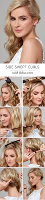 how to curl loose curls on a side ethnic hair best 25 side swept curls ideas on pinterest side swept
