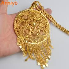 gold big pendant necklace images Anniyo ethiopian very big pendant and necklaces women 39 s african jpg