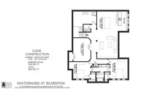 Watermark Floor Plan 28 Wycliffe Mews Watermark At Bearspaw