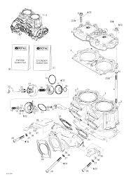 2000 sea doo gti cylinder exhaust manifold seadoowarehouse com