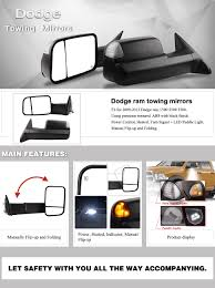 amazon com dodge towing mirrors for 09 12 dodge ram 1500 2500