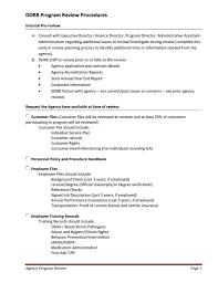 ddrb program review procedures ddrb