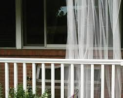 Mosquito Netting For Patio One White Outdoor Curtain Panel Sheer Net Lace Garden Rustic