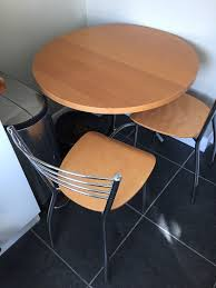 john lewis round beech dining table and 2 chairs in islington