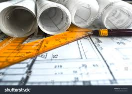 architectural plans architecture rolls architectural plans project architect stock