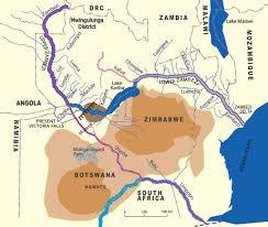 Lake Victoria Africa Map by Victoria Falls Geology Basalt Volcanic Rock Batoka Gorge