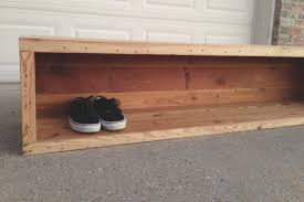 wooden shoe bench furniture closet storage how to build a wooden shoe bench make