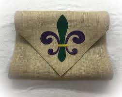 mardi gras table runner burlap table runner with a deer bust initial stripes on