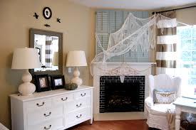 fancy fireplace halloween deco combines captivating mantel