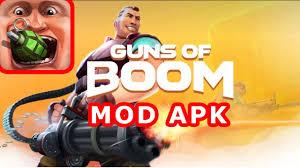 guns of boom mod apk hack instant reload no recoil rapid fire