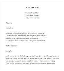 Resume Sles For Cashier Cashier Resume Template 16 Free Sles Exles Format