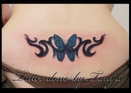 tribal upper back tattoos