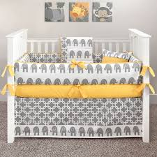 Zig Zag Crib Bedding Set Nursery Beddings Purple Yellow And Gray Crib Bedding With Sweet