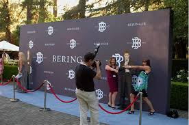 step and repeat backdrop michael buble performs concert at beringer vineyards
