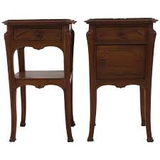 stunning pair of french art nouveau nightstands or bedside tables