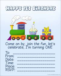 Birthday Invitation Cards For Kids First Birthday Free Printable First Birthday Invitations For Boy U2013 Bagvania Free