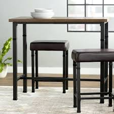 rectangle pub table sets rectangle bar table trendy laurel foundry modern farmhouse 3 piece