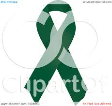 emerald green ribbon clipart of an emerald green liver cancer and homeopathy awareness