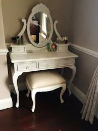 Furniture Style Vanity Vintage French Furniture Make Up Vanity With Bench In White Color