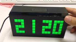 chihai led alarm clock digital large number wall clock desk table