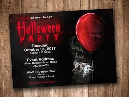Pennywise Clown Halloween Party Invitation Personalized