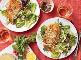 oven fried chicken with spring salad recipe southern living