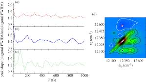 peak shape analysis of diagonal and off diagonal features in the
