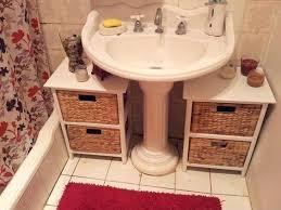sink storage ideas bathroom pedestal sink storage schreibtisch me