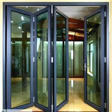 Accordion Glass Patio Doors Cost Idea Accordion Patio Doors Or Folding Patio Door With Wooden Frame