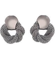 push back earrings buy zeneme push back gold plated stud earrings for women