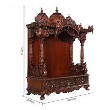 pooja mandapam designs teak wood big open temple with peacock theme 240715 3356 teak