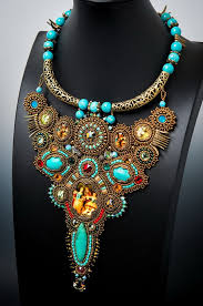 beautiful beads necklace images Beautiful bead embroidered jewelry by guzialia reed beads magic
