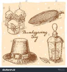 thanksgiving pilgrim candles set vector illustrations candles stock vector 492589972