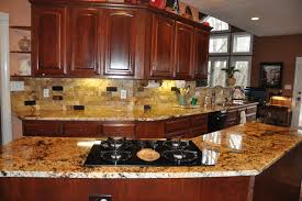 Pleasant Granite Countertop With Tile Backsplash Ideas In Office - Granite tile backsplash ideas