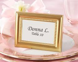picture frame wedding favors beautifully beaded gold photo frame place card holder